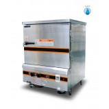 Commercial Gas Rice Steamer, 7 Pans