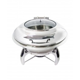 Chafing Dish, round w/ glass lid, 6L