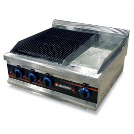 Combination Gas Charbroiler With Griddle Merit Stainless