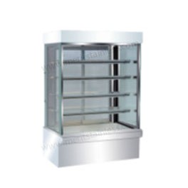 5 Layer Vertical Display Showcase, 5ft, Stainless